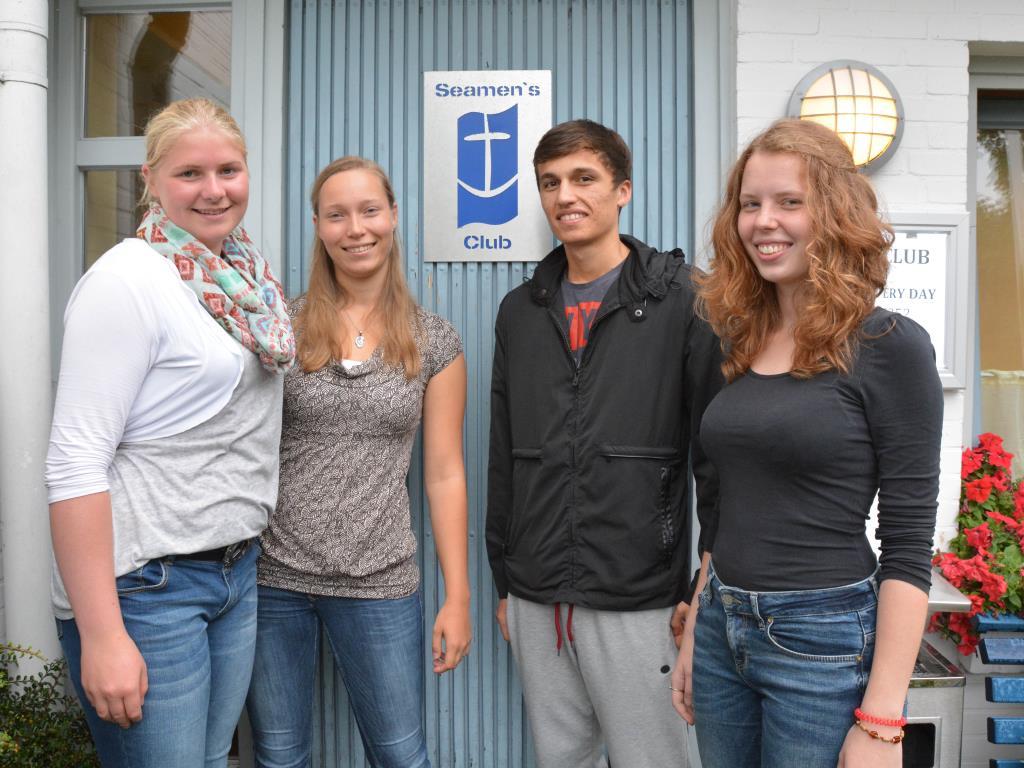 Unsere Bufdis: Melina, Ibrohim, Gesine und Svea