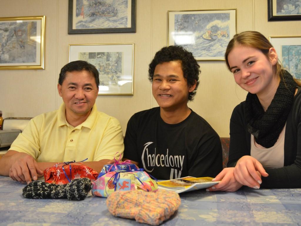 V.l.nr.: Manny Razon, Nasser Simon und Charlotte Brihmani (Foto: Svenja Engel)
