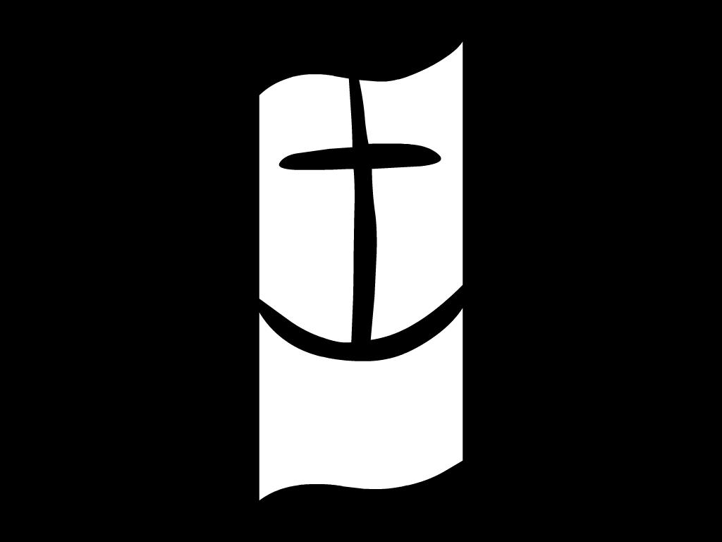 Das Logo der DSM schwarz-weiß gefärbt als Zeichen der Trauer um im Mittelmeer verstorbene Flüchtlinge