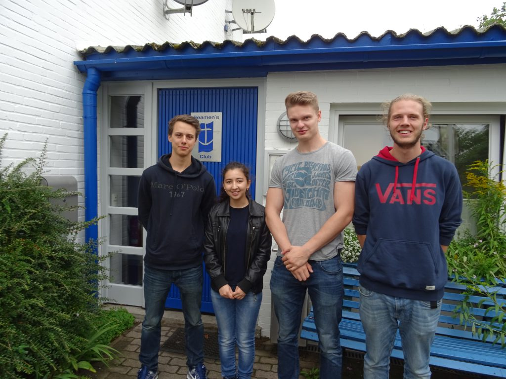 Die vier neuen Bufdis: Benjamin, Komila, Alexander und Kamo.